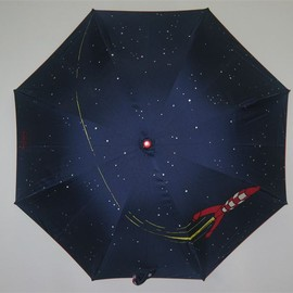 tintin - rocket umbrella