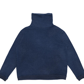 Porter Classic - Wool High Neck Pullover-Blue