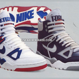 NIKE - Air Force III High - Royal Blue-Red & Light Blue Grey