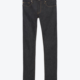 SAINT LAURENT PARIS - ORIGINAL LOW WAISTED SKINNY JEAN IN INDIGO RAW DENIM