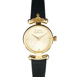 Vivienne Westwood - Vivienne Westwood Orb Black Leather Strap Watch