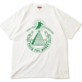 "MILLION RACE - S/S TEE ""FUCK YOU MONEY"" (White)"