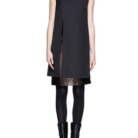 3.1 Phillip Lim - WOOL-LEATHER SHIFT DRESS