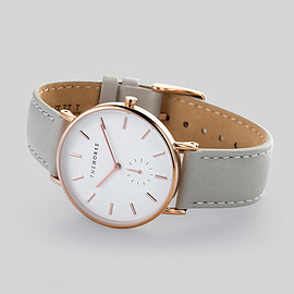 the horse - Rose Gold / Grey Leather