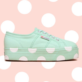 House of Holland, SUPERGA - Platform Polka-Dot Sneakers