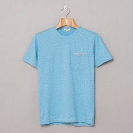 YMC - Slit Pocket Tee in Sky / Pink