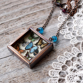 WoodlandBelle - Statement Necklace Butterfly Collection by
