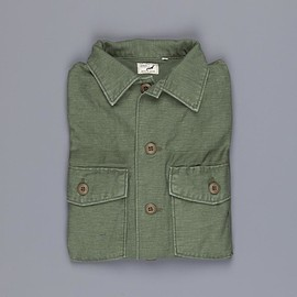 orslow - US army shirt back satin green used