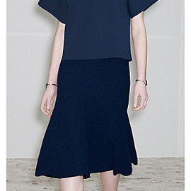 CELINE - NAVY KNITTED COMPACT VISCOSE TOP