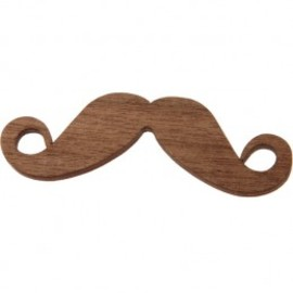 Tatty Devine - Moustache Brooch - wood