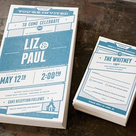 Andrew Smith - Liz & Paul Wedding Invitation