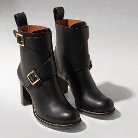 Chloé - Chloé Double-buckle Leather Ankle Boots