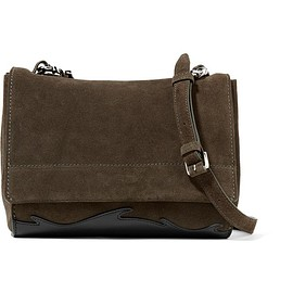3.1 Phillip Lim - Ames leather-paneled suede shoulder bag