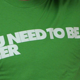 Blue Collar Distro - The Cardigans: Be Nicer T-Shirt (Green)