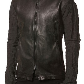 Odyn Vovk - Collarless Calf Leather Jacket