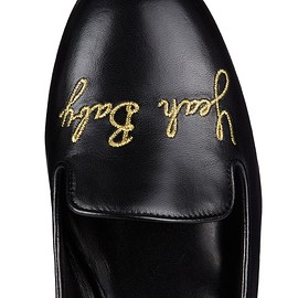saint laurent - Yeah Baby embroidered leather flat