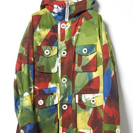 MARKAWARE - FIELD PARKA HAND PRINTED CAMOUFLAGE