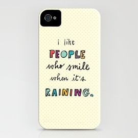 Society6 - when it's raining iPhone Case