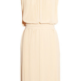 Chloe - Pleated silk-georgette dress