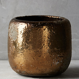 Anthropologie - Metallic Crackle Herb Pot (£8.00)