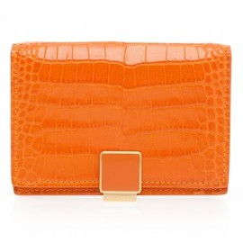 Smythson - Croc Finish Card Holder by SMYTHSON