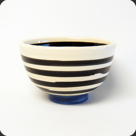 Echo Park Pottery - Stripe Bowl / Blue