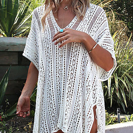 Yoins - Delicate Crochet Hollow Overlay Design Top in White