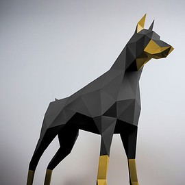 Papertrophy - Doberman Black & Gold