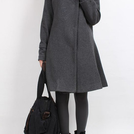 MaLieb - Dream/ winter Overcoat wool Cloak coat stand collar hooded wool coat