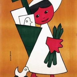 "Dick Bruna - ""Tekenen is een wereldtaal (Drawing is a universal language)"" Poster, 1954"
