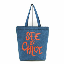 SEE BY CHLOE - SEE BY HEART デニム・トートバッグ
