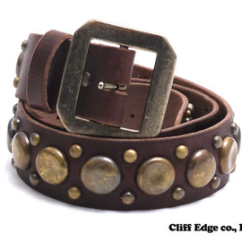 NEIGHBORHOOD - GARRISON.STUDS-1/CL-BELT(レザーベルト)BROWN284-000331-016-【新品】【smtb-TD】【yokohama】