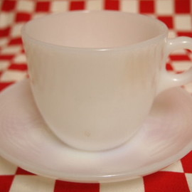 Jadeite Magic Gallery - White 1700 Line St Denis Cup & Saucer (66)