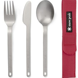 Snow Peak - Three-Piece Titanium Cutlery Set