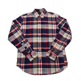 J.CREW - Vintage J.Crew Oxford Red/White/Blue Plaid Button Up Shirt Mens Size Small