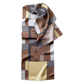 MoMA - H Price Silk Scarf (Neutral) by Frank Lloyd Wright
