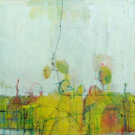 Anne-Laure Djaballah - conversations (yellow), 2007, acrylic on canvas