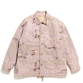 SEVEN BY SEVEN - Coaches Jacket-Leopard Pattern Print-Beige