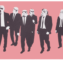 RYCA - Reservoir Troopers (Pink) (Silkscreen Signed Limited Edition of 60) by RYCA