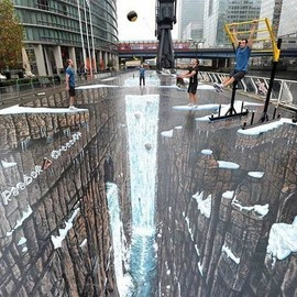 The World's Largest 3D Street Painting  - By Reebok