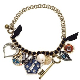 LANVIN - 'PARIS' CHARM NECKLACE