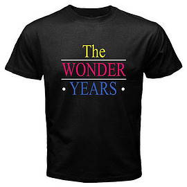 New-THE-WONDER-YEARS-TV-Show-Old-School-Mens-Black-T-Shirt-Size-S-to-3XL