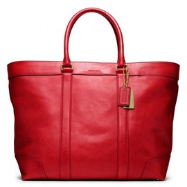 Coach - Coach Bleecker Legacy Leather Weekend Tote (CHILI)