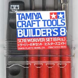 TAMIYA - BUILDER'S 8  SCREWDRIVER SET (8Pcs.)