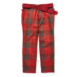 PEEL&LIFT - tartan army trousers/Robertson Red Weathered tartan