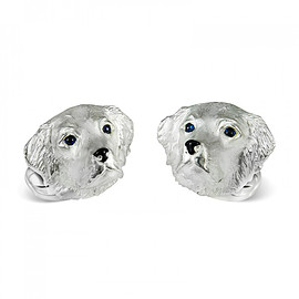 Deakin and Francis - Sterling Silver Retriever Dog Cufflinks