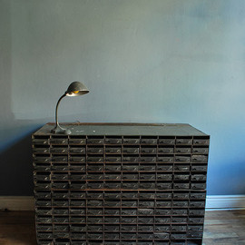 Letterpress cabinet, Typsetters drawers, industrial cabinet, parts cabinet