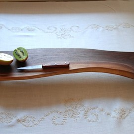 Cutting Board Black Walnut Footed Platte Serving Tray Eco Friendly Wedding Gift Rustic Home Decor