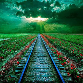Romania - Rail Sunset