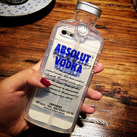 ABSOLUT VODKA - VODKA BOTTLE iPhone ケース